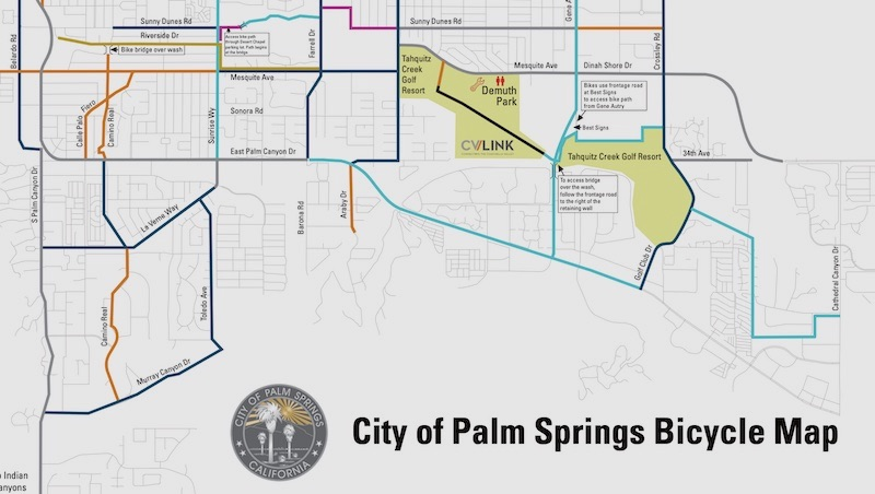 City of Palm Springs Bicycle Map