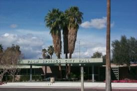 Palm Springs City Hall Palm Trees