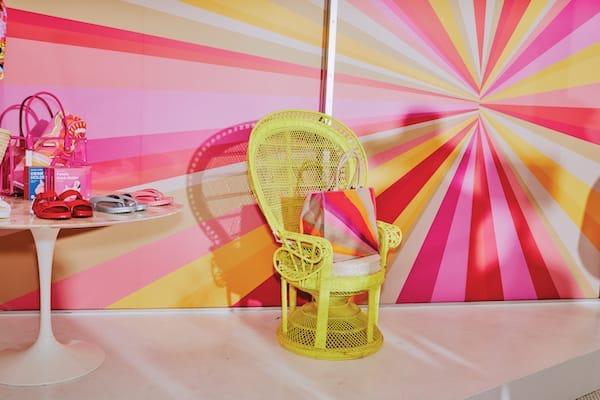 Trina Turk Pink Sunburst Chair