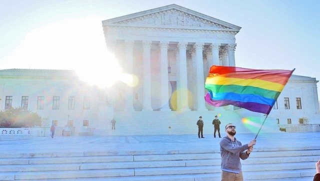 Supreme Court Rainbow Flag