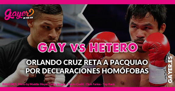 Combate Boxeo Gay Orlando Cruz reta a PACQUIAO