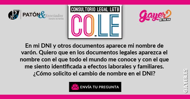 CONSULTORIO LEGAL LGTB  Cambio de nombre en el DNI