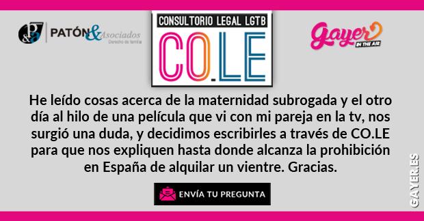 CONSULTORIO LEGAL LGTB | Gestación subrogada, vientres de alquiler