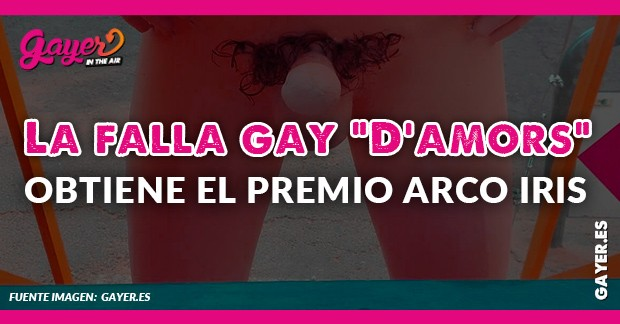 La falla gay 'D'amors' obtiene el premio Arco Iris