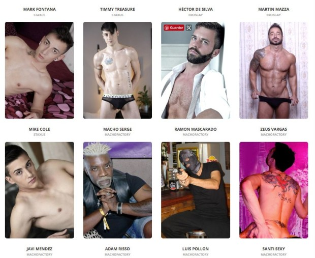 Algunos de los actores que participarán en Eros Gay Madrid 2017
