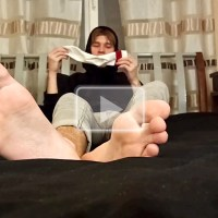 Webbed Toe Twink Sniffs His Own Socks