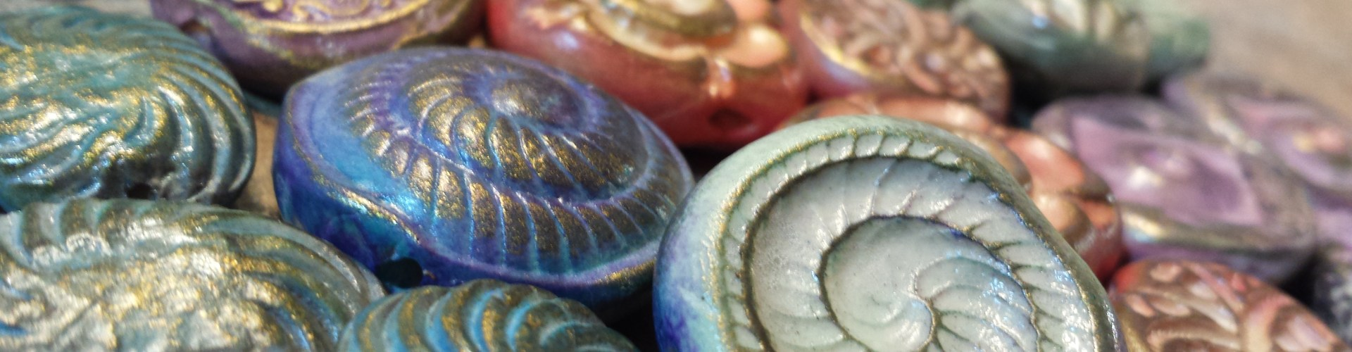 Making Rustic / Organic Polymer Clay Beads