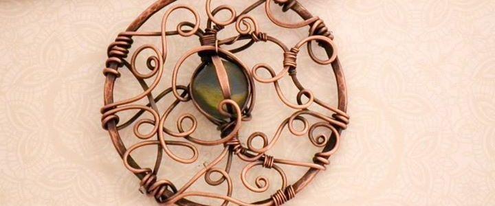Copper & Beach Glass