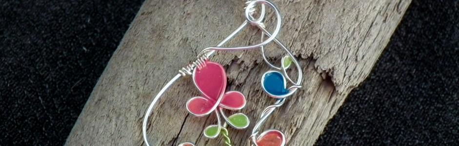 Wire Nail Polish Flowers & Pendants