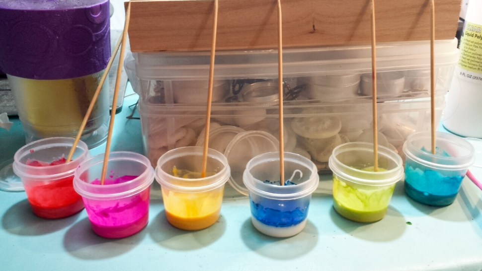 Mixing up larger batches of liquid polymer clay