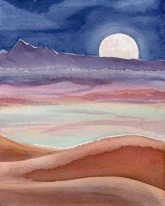 Moorise Over the Dunes