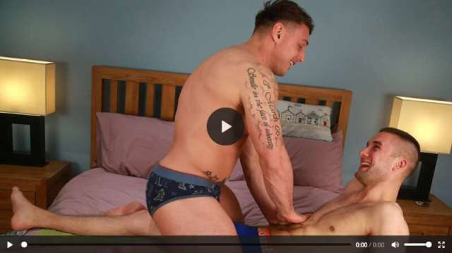 straight guys in a happy ending massage with cock sucking