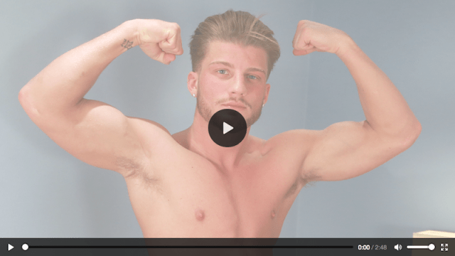 Straight guy Justin McGregor wanks out three cum loads