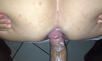 Lesbian anal toy lick