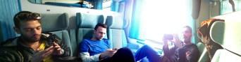 My train friends in panorama
