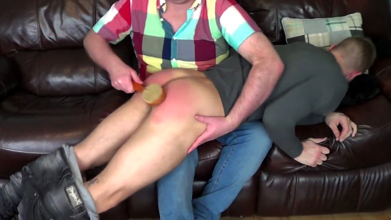 image Spanking fat gay caught spanking the