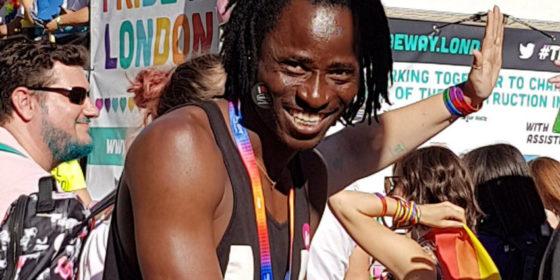Bisi Alimi, activist from Nigeria at London Pride