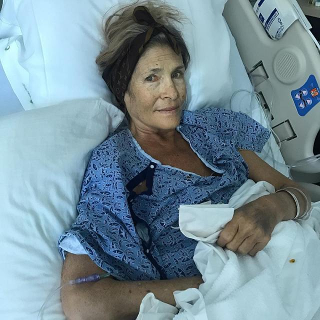 Colton Haynes' mother in the hospital.