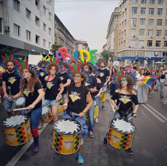 Marchers at Sofia Pride Parade