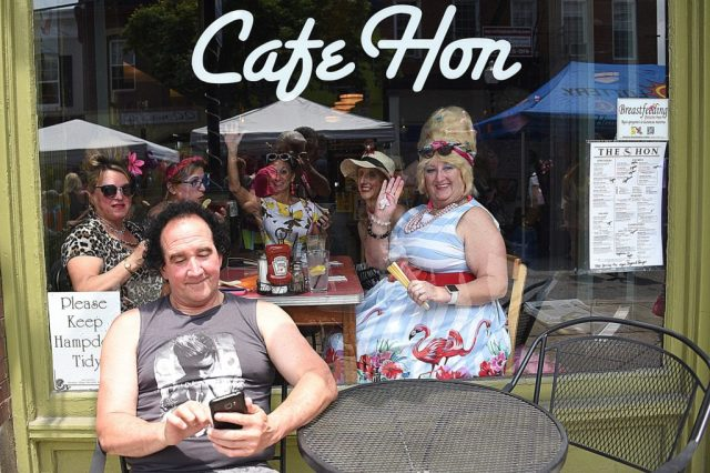 Patrons at legendary Cafe Hon
