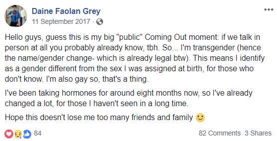 Cleared transsexual coming out parents