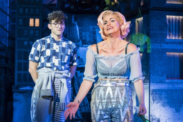 Jemima Rooper and Marc Antolin as Audrey and Seymour. Photo Johan Persson. Design Tom Scutt. Lighting Design Howard Hudson. | Photo: Open Air Theatre Little Shop of Horrors
