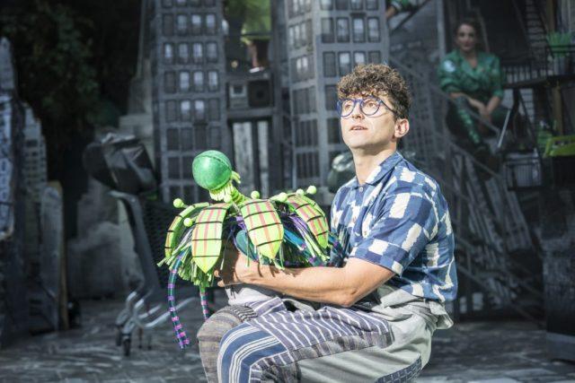 Marc Antolin as Seymour. Photo Johan Persson. Design Tom Scutt. Lighting Design Howard Hudson | Photo: Open Air Theatre Little Shop of Horrors