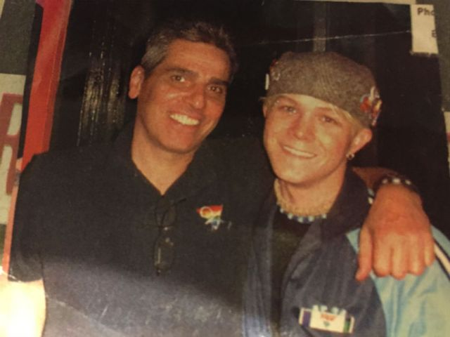 Erik (right) with the late Tommy Elias