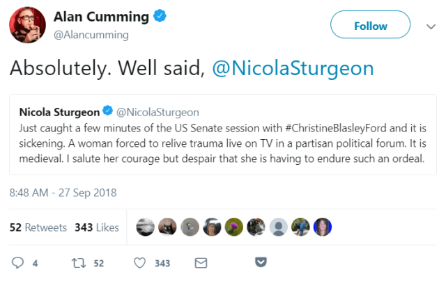 Alan Cumming tweet