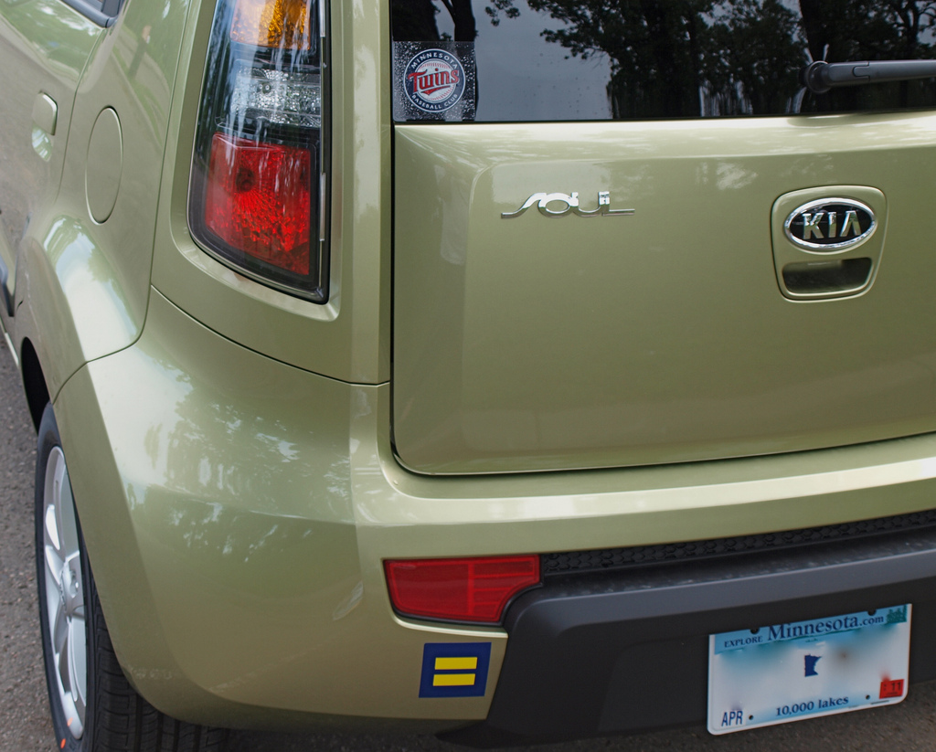 Spreading the message of equality one bumper sticker at a time