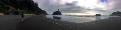 Hidden beach in Klamath, California