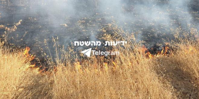 شاهد…15 حريقا في مستوطنات غلاف قطاع غزة اليوم