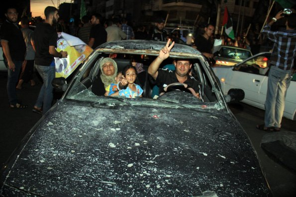 Yearning for peace in a bombed out car