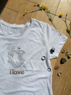 T-shirt I LOVE like apple