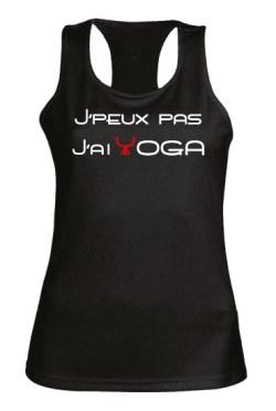 T-shirt J'peux pas j'ai yoga