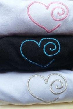 T-shirt coeur rose