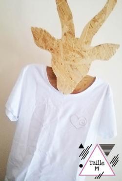 BRADERIE-T-shirt coeur argent-2