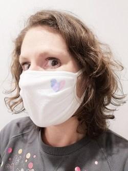 Masque barrière : masque Adulte Coeur