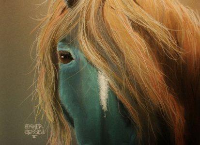 Blue Horse - Soft Pastel