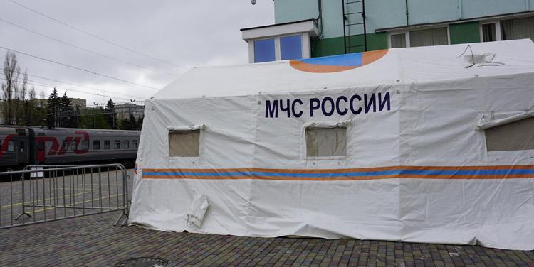 Коронавирус москвичей и других гостей Балаково сотрудники Роспотребнадзора проверяют сразу на вокзале