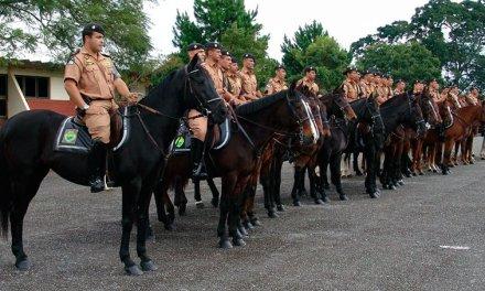 Operação Centauro do Regimento da Polícia Montada do PMPR