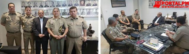 Comandante Geral PMTO visita Comandante Geral PMGO