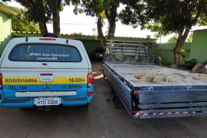 Homem é preso ao transportar 800 kg de maconha. Foto: Divulgação