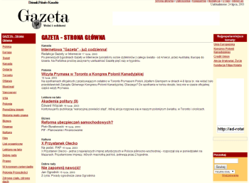 Pierwsze artykuły opublikowane w 2003