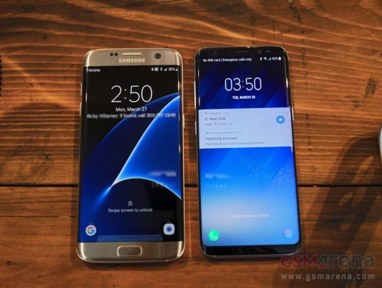 Galaxy S8 compare with S7