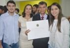 Antônio Félix, esposa e filhos