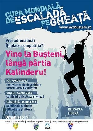 BUŞTENI/9-11 februarie – Cupa mondială de escaladă pe gheaţă