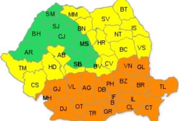 Județul Prahova intră sub avertizare de cod portocaliu