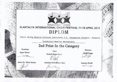 Casa de Cultură Ploieşti – premiată în Antalya