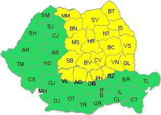 Cod galben în Prahova/ Zăpada mieilor?